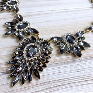 Dramatic Marquise Blue Crystal Statement Necklace